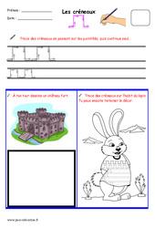 Créneaux – Fichier graphisme : 1ere, 2eme, 3eme Maternelle – Cycle Fondamental