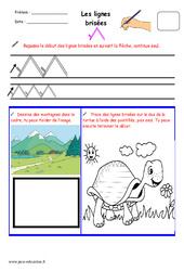 Lignes brisées – Fichier graphisme : 1ere, 2eme, 3eme Maternelle – Cycle Fondamental