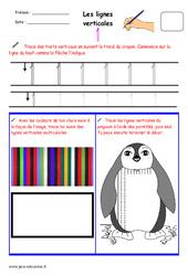 Lignes verticales – Fichier graphisme : 1ere, 2eme, 3eme Maternelle – Cycle Fondamental