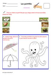 Pointillés – Fichier graphisme : 1ere, 2eme, 3eme Maternelle – Cycle Fondamental
