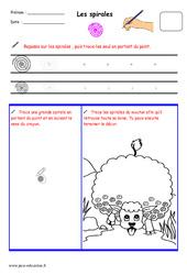 Spirales – Fichier graphisme : 1ere, 2eme, 3eme Maternelle – Cycle Fondamental