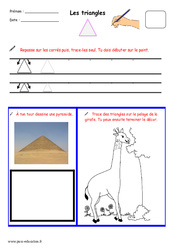 Triangles – Fichier graphisme : 1ere, 2eme, 3eme Maternelle – Cycle Fondamental