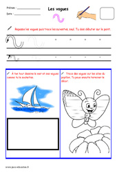 Vagues – Fichier graphisme : 1ere, 2eme, 3eme Maternelle – Cycle Fondamental