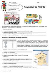 Consommer de l'énergie – Exercices : 4eme Primaire