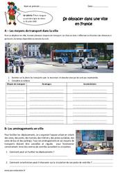 Se déplacer dans une ville en France – Exercices : 5eme Primaire