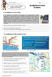 Se déplacer en France  et ailleurs – Exercices : 5eme Primaire