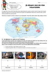 Se déplacer dans des villes industrialisées – Exercices : 5eme Primaire