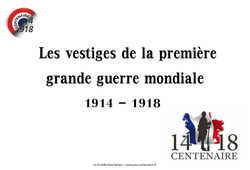 1ère guerre mondiale – Vestiges du passé – Images : 5eme Primaire