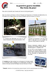 1ère guerre mondiale – Vestiges du passé – Exercices : 5eme Primaire