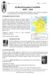 2ème guerre mondiale 1939 – 1945 – Exercices : 5eme Primaire