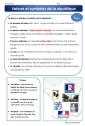 Valeurs et symboles de la république – Cours, Leçon : 4eme, 5eme Primaire