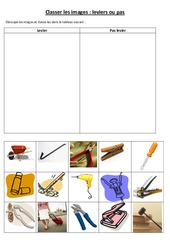 Leviers et balances- Fiches Classer les images levier ou pas : 3eme, 4eme, 5eme Primaire