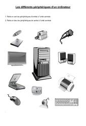 Les différents périphériques d'un ordinateur – Informatique – Sciences : 3eme, 4eme, 5eme Primaire