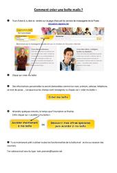 Comment créer une boîte mails – Informatique – Sciences : 3eme, 4eme, 5eme Primaire