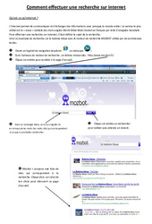 Comment effectuer une recherche sur internet – Informatique – Sciences : 3eme, 4eme, 5eme Primaire
