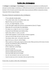 Virelangues – Ecriture – Rédaction : 4eme, 5eme Primaire