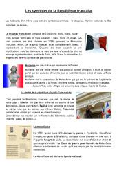Les symboles de la république – La république – Documents, questions, corrigé : 4eme, 5eme Primaire