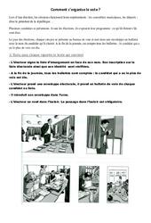 Comment s'organise le vote – Document, questions, correction : 3eme, 4eme, 5eme Primaire