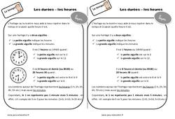 Durées – Heures – Cours, Leçon : 2eme Primaire