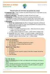 Parties du corps – Plan de séquence : 3eme Maternelle – Cycle Fondamental
