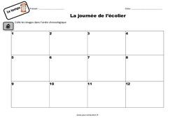 La journée de l'écolier – Exercices : 2eme Primaire