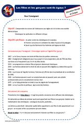 Filles et garçons – EMC – Séquence : 2eme, 3eme Primaire