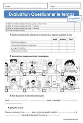 Passé, présent, futur – Journée – Semaine et emploi du temps – Examen Evaluation : 2eme Primaire