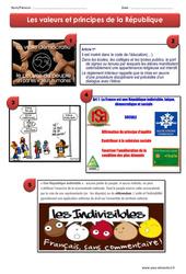 Valeurs et principes de la République – Exercices – EMC : 4eme, 5eme Primaire