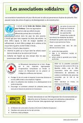 Associations solidaires – EMC : 4eme, 5eme Primaire