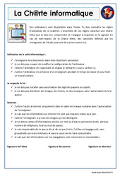Charte informatique – EMC : 4eme, 5eme Primaire
