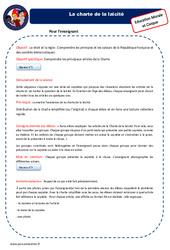 Charte de la Laïcité – Fiche de préparation – EMC : 4eme, 5eme Primaire