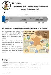 Quelles traces d'une occupation ancienne du territoire français – Cours, Leçon : 3eme, 4eme Primaire