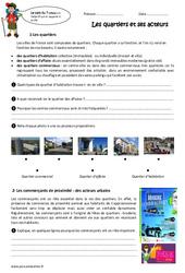 Quartiers – Exercices : 3eme Primaire