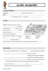 Ville – Quartiers – Cours, Leçon : 3eme Primaire