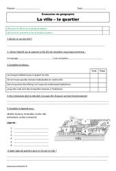 Ville – Quartier – Examen Evaluation : 3eme Primaire