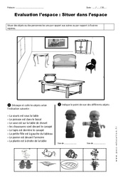Situer dans l'espace – Examen Evaluation : 1ere Primaire