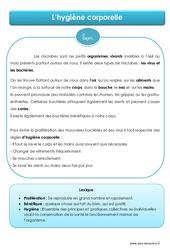 Hygiène corporelle – Cours, Leçon – EMC : 4eme, 5eme Primaire
