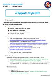 Hygiène corporelle – Fiche de préparation – EMC : 1ere, 2eme, 3eme Primaire