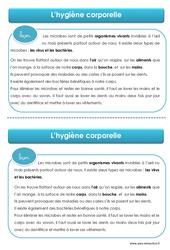 Hygiène corporelle – Cours, Leçon – EMC : 1ere, 2eme, 3eme Primaire