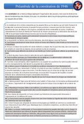 Préambule de la constitution de 1946 – EMC : 4eme, 5eme Primaire