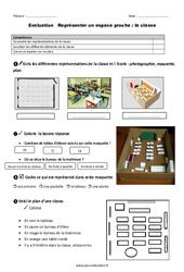 Classe – Examen Evaluation – Représenter un espace proche : 1ere Primaire