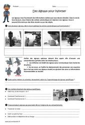 Des signaux pour informer – Exercices : 4eme, 5eme Primaire