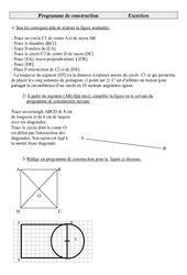 Programme de construction – Exercices – Géométrie : 4eme Primaire