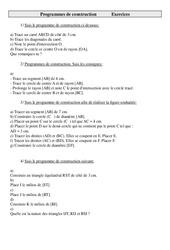 Programmes de construction – Exercices – Géométrie : 5eme Primaire