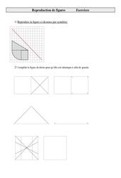 Reproduire une figure – Exercices – Géométrie : 5eme Primaire