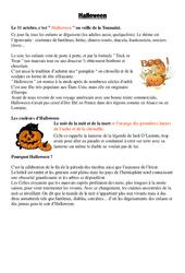 Halloween – Civilisation anglaise : 3eme, 4eme, 5eme Primaire