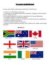 Pays anglophones – Civilisation anglaise : 3eme, 4eme, 5eme Primaire