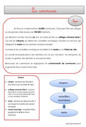 Commune – Cours, Leçon – EMC : 4eme, 5eme Primaire
