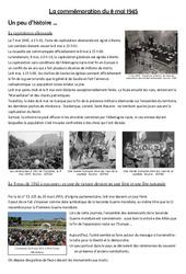 La commémoration du 8 mai 1945 : 4eme, 5eme Primaire