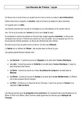 Fleuves de France – Géographie – Cours, Leçon : 3eme, 4eme Primaire